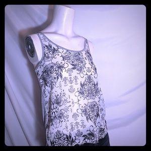 🤴 | Vera Wang | lace up tank|  Rayon blend | XS